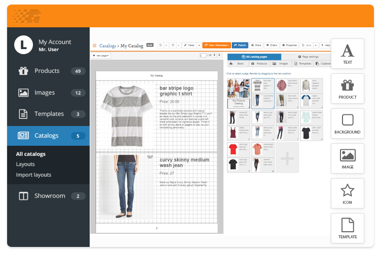 make online product catalogs
