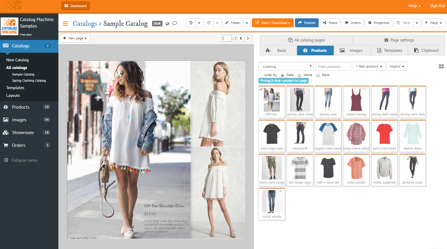 create a lookbook with free templates